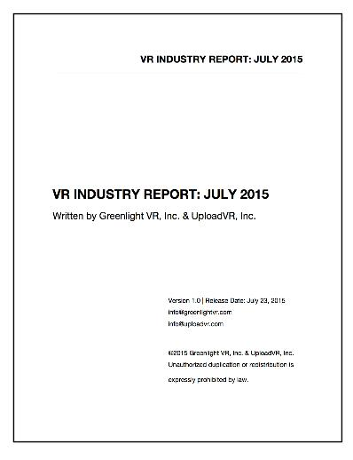 VR Industry Report: July 2015