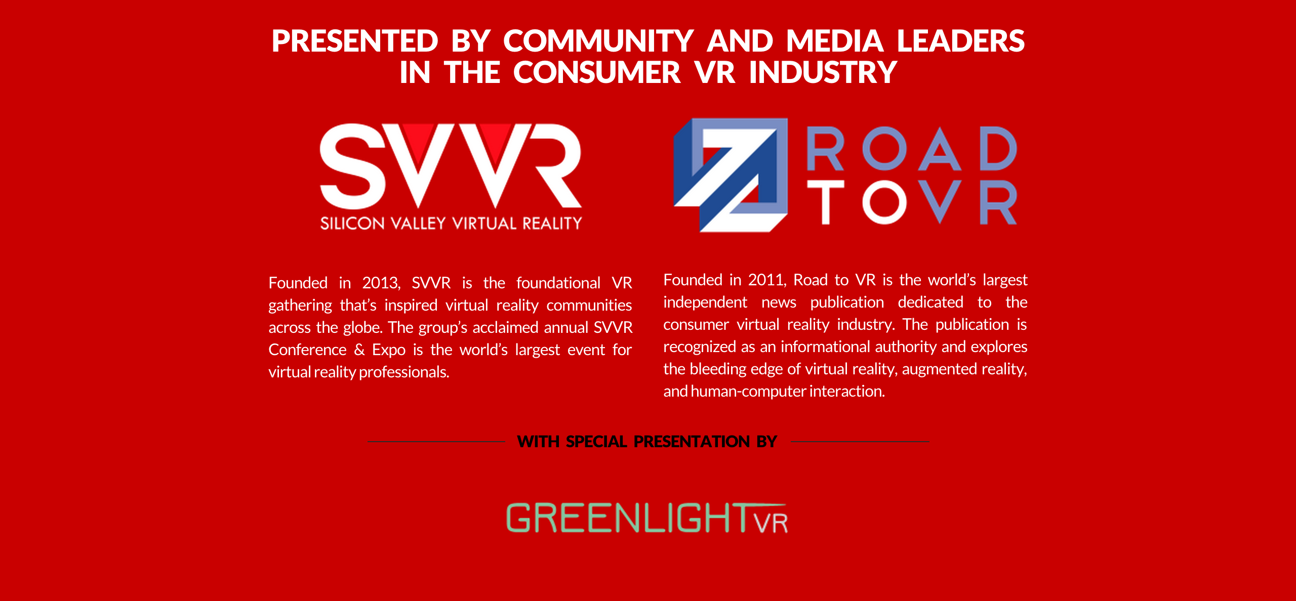 Greenlight VR Keynote SVVR RoadToVR