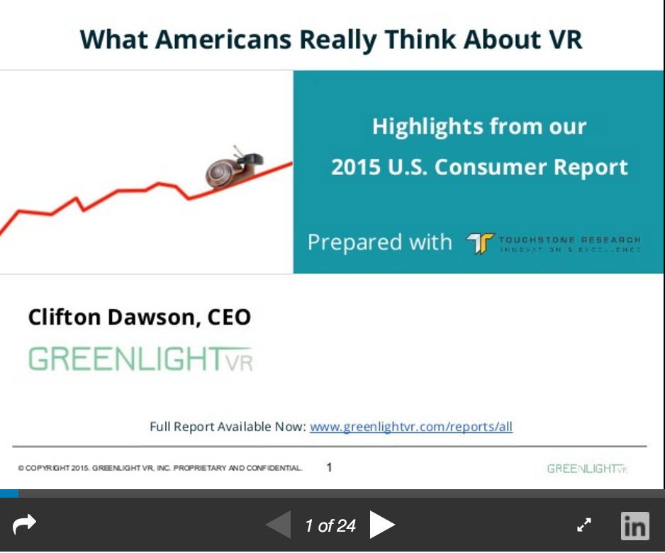 Greenlight VR_Consumer Insights on Slideshare