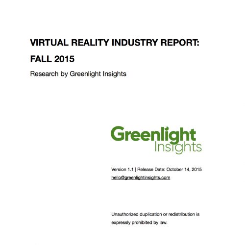 2015 Virtual Reality Industry Report