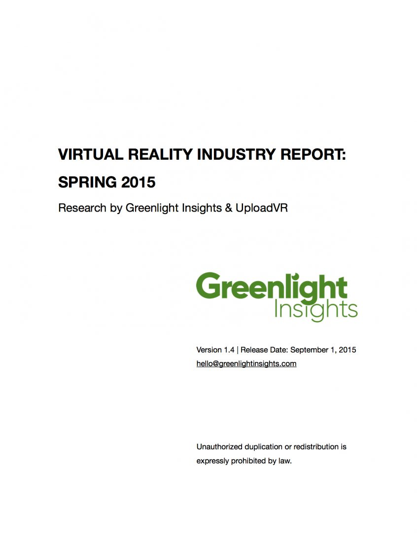 2015 VR Industry Report, Spring Edition