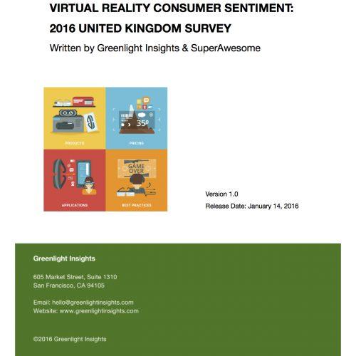 2016 United Kingdom Virtual Reality Consumer Survey