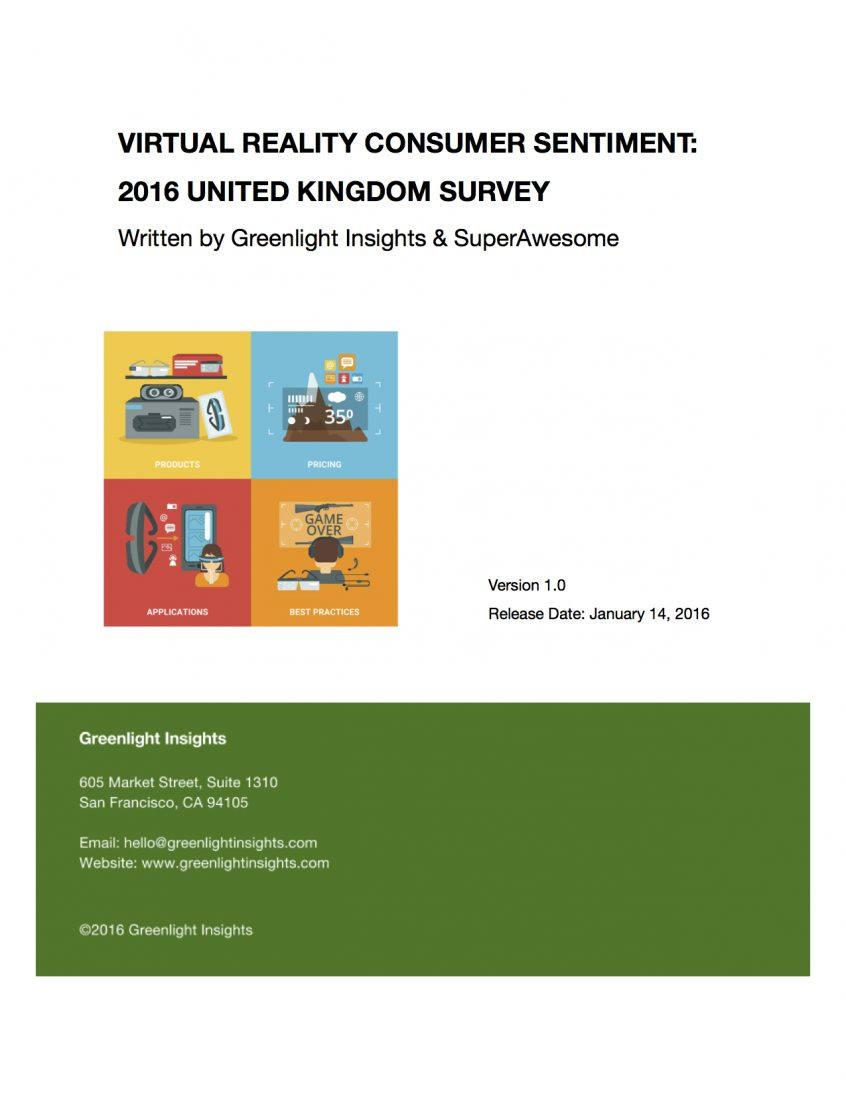 2016 United Kingdom Virtual Reality Consumer Survey