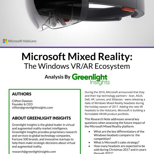 Microsoft Mixed Reality - The Emerging Windows Ecosystem