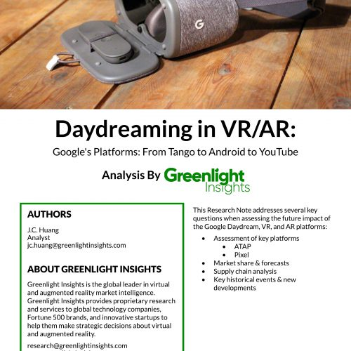 Google Daydream: Daydreaming in VR/AR