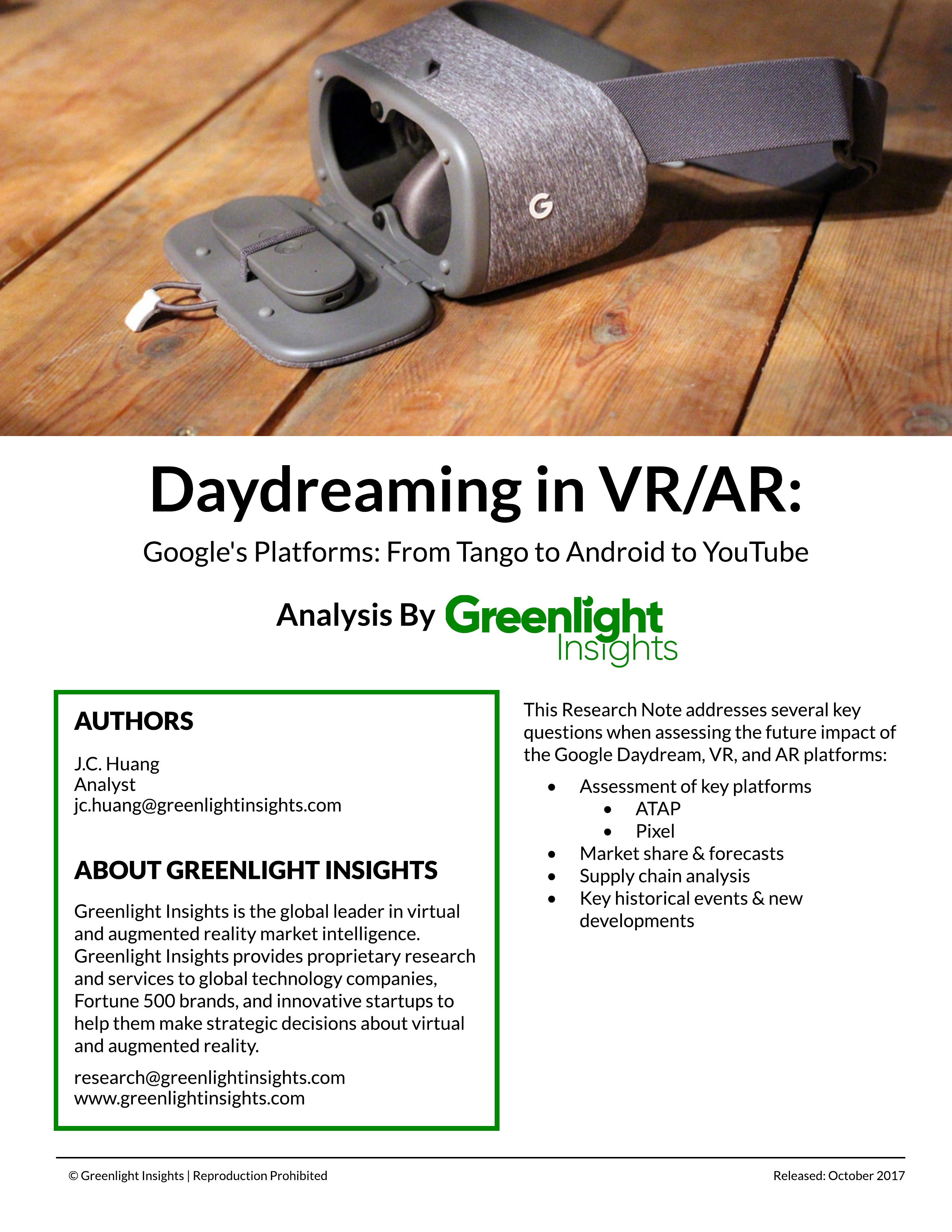 Daydreaming in VR/AR | Google's Platforms: From Tango to Android to