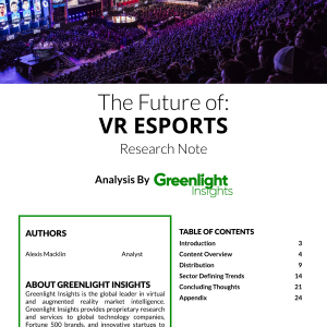 2018 VR eSports Research Note