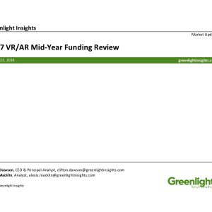 VR/AR Funding: 2017 Mid-Year Review