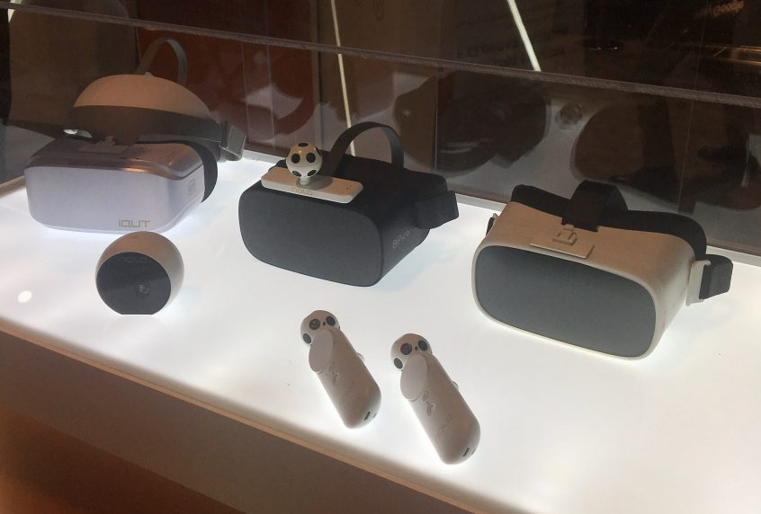 Nolo VR, a Chinese vendor, exhibits VR tracking and controllers at CES 2020.