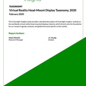 Virtual Reality Head-Mount Display Taxonomy, 2020